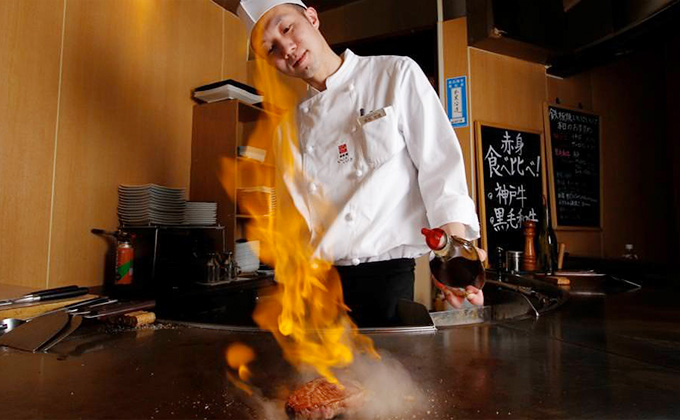 The Teppanyaki culinary arts are a must-see!
