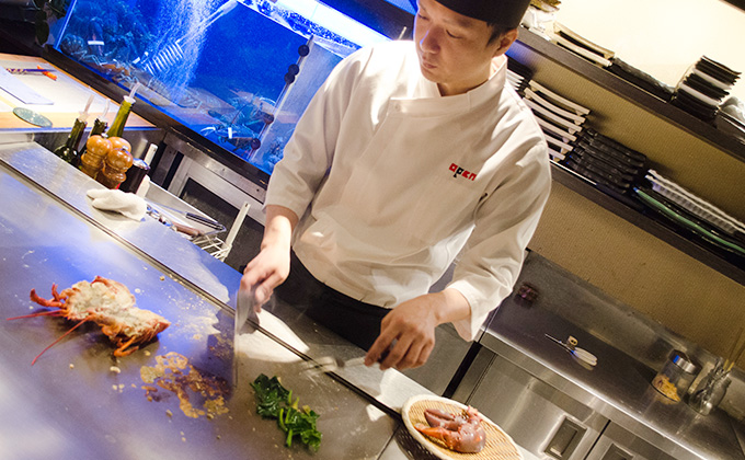 Chef's culinary skills not only show you cooking but fascinate you
