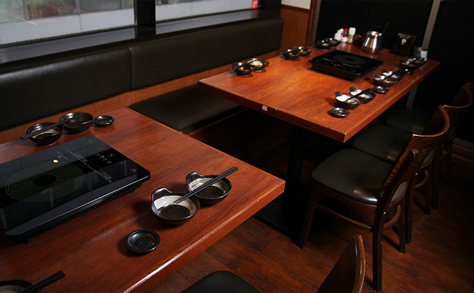 We have private dining rooms for parties.