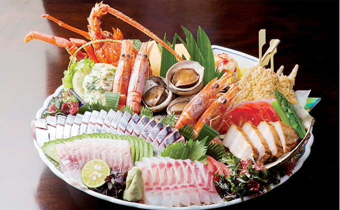 Sawachi Cuisine (assorted cold food served on a large plate)