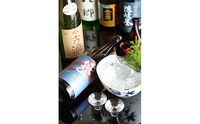 We are scrupulous about Japanese sake.