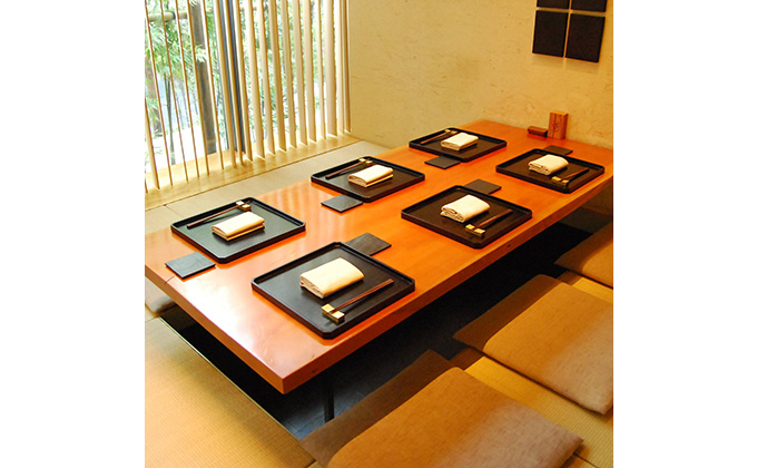 Private tatami rooms suitable for special occasions